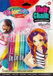 pastely Colorino křídové metalické do vlasů 5ks(5907690868680)