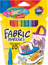 popisovače Colorino na textil 10ks neon