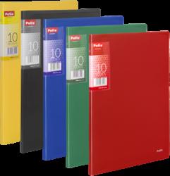 katalogová kniha Patio  10 listů červená-Katalogová kniha s tuhými barevnými deskami