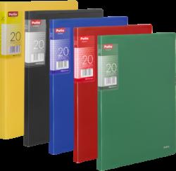 katalogová kniha Patio  20 listů černá-Katalogová kniha s tuhými barevnými deskami