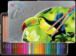 pastelky Colorino Artist 36ks kovová krabička-Premiová kvalita pastelek pro umělecké i amaterské kreslení.