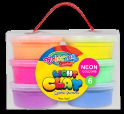 model.hmota Colorino Light Clay 6 neon barev-Modelovací hmota rozvíjí dětskou představivost, kreativitu a fantazii.