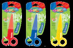 nůžky Colorino dětské celoplastové 12,5cm blistr