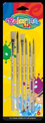 štětec Colorino kulatý 2,4,6,10 + plochý 8,12