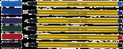 popisovač fineliner 0.4 mm TRIO  6ks 105228-tenká stopa 0,4 mm