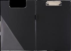 podložka A5 dvojdeska karton/PP s klipem černá 009565