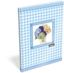 záznamní kniha Lizzy A6 čistá Geo Flora Blue 15252901