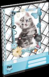 sešit A5 32l linka Pet Meow 17261707-PRODEJ POUZE PO BALENÍ
