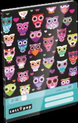 sešit A5 32l linka Lollipop Dark Owl 17302022-PRODEJ POUZE PO BALENÍ