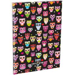 blok A4 70l linka spirála bok Lollipop Dark Owl 17304122