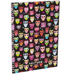 blok A5 70l čtverec spirála bok Lollipop Black Owl 15304601