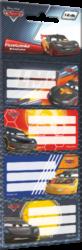 štítky na sešity 12ks Cars 16349805