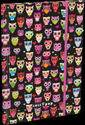 desky  3 klopy s gumou A5 Lollipop Black Owl 15360501