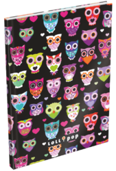 záznamní kniha Lizzy A5 čistá Lollipop Dark Owl 17373322