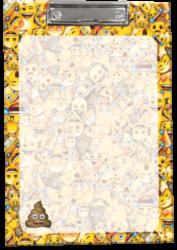 podložka A4 s klipem Emoji Poop 17508901
