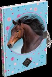 záznamní kniha Lizzy A5 čistá Wild Beauty Blue se zámečkem 20734706