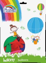 balónky 100ks Fiorello pastel mix 170-1673