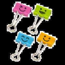 klip Binder barevný Smile mix 25mm 48ks v dóze 009765