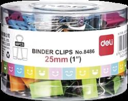 klip Binder barevný Smile mix 25mm 48ks v dóze 009765(6921734984869)