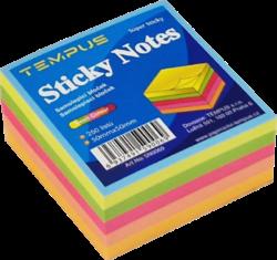 notes   Y neon  50 x 50 mix barev 250l-250 listů