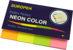 notes   Y neon  50 x 20 4 barvy-4 x 50 listů