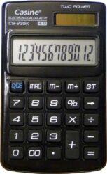 kalkulačka Casine CS-935 černá-12 míst, černá