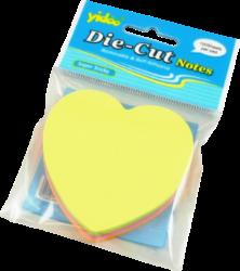notes   Y neon  srdce mix barev 100l-100 listů ve tvaru srdce