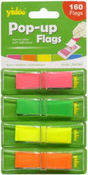 notes   Y neon  45 x 12 4 barvy v zás.vytahovací 160ks