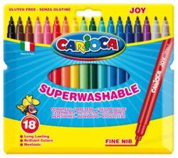 popisovače  Carioca Joy  18ks-síla hrotu: 2 mm ventilační chránítko