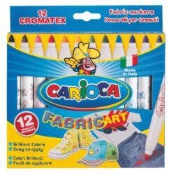 popisovače Carioca Cromatex na textil 12ks