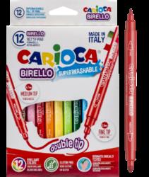 popisovače Carioca Birello 12ks oboustranné