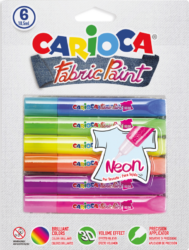 barvy dekorační na textil Carioca 3D neon