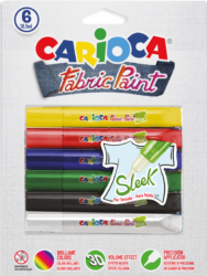 barvy dekorační na textil Carioca 3D sleek