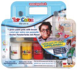 barvy na sklo Toy color 25ml 5ks
