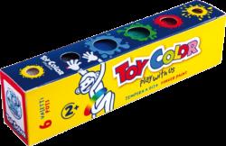 barvy prstové Toy color 25ml 6ks