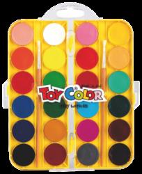 barvy vodové 30mm Toy color 24ks