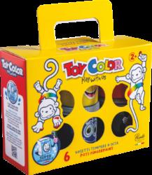 barvy prstové Toy color 80ml 6ks