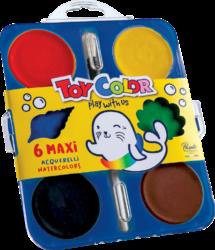 barvy vodové 57mm Toy Color 6ks-barvy vodové 6 x 57 mm