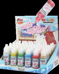 lepidlo glitrové Toy color 25ml 30ks stojánek mix 5x6barev (- 677)