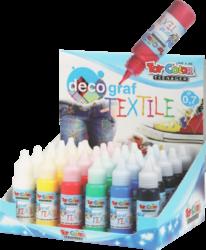 barvy na textil Toy color 25ml 24ks stojánek mix 4x6barev