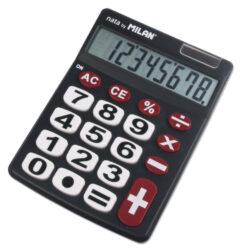 kalkulačka Milan 151708 BL-8 míst, velká tlačítka, černá