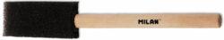 štětec Milan 1321 tupovací 25mm-černá houba (molitan), krátká nelakovaná dřevěná násadka