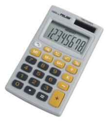 kalkulačka Milan 150208 O-8 míst, oranžová, v pouzdru