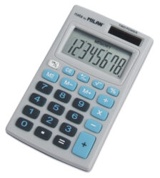 kalkulačka Milan 150208 B-8 míst, modrá, v pouzdru