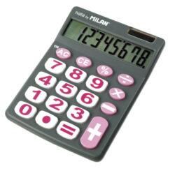 kalkulačka Milan 151708 G-8 míst, velká tlačítka, šedá