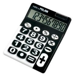 kalkulačka Milan 150610 K-10 míst, černo/bílá