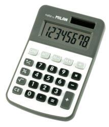 kalkulačka Milan 150808 G-8 míst, šedá