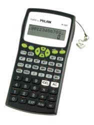 kalkulačka Milan 159110 GRBL vědecká černo/zelená - blistr-240 funkcí, plastový kryt