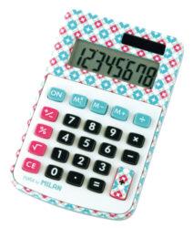 kalkulačka Milan 150808 AC-8 míst, sv. modrá design