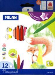 pastelky  Milan Plasticolor 12 barev
